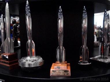 Worldcon 2014 - Display 01 - Premii Hugo