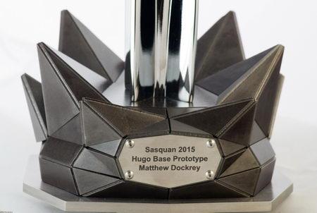 Hugo trophy 2015 base prototype by Matthew Dockrey, photo by David Bliss Photography