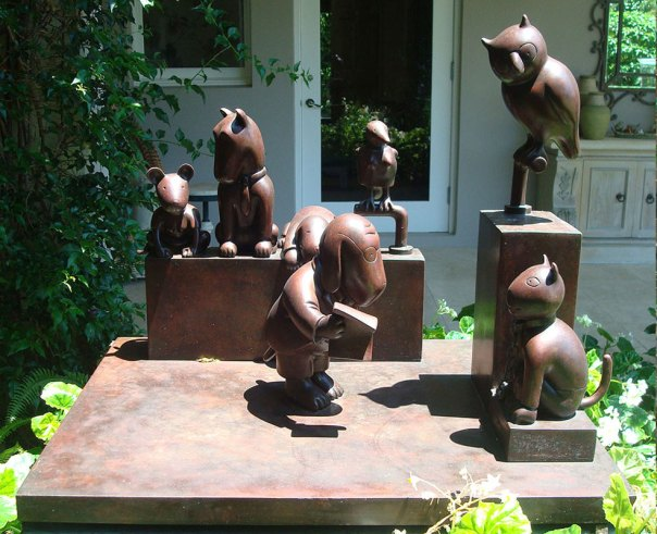 """Tom-Otterness, """"Trial Scene from the Law of Nature"""" before treatment."""