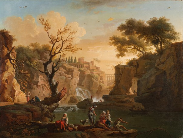 """Claude-Joseph Vernet ´s """"The Fishermen""""; The painting after the painting conservation treatment."""