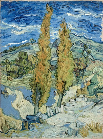 The Poplars at Saint Remy by Van Gogh