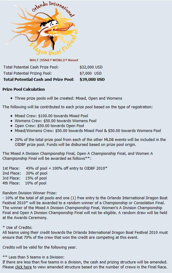 orlando cash prize pool