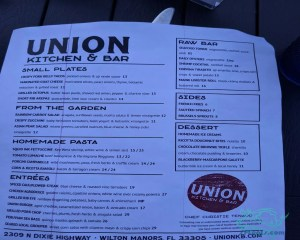 union kitchen menu