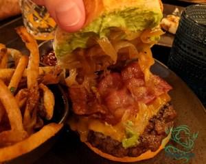 union burger - cheddar, bacon