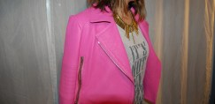 J Brand Pink Leather Jacket