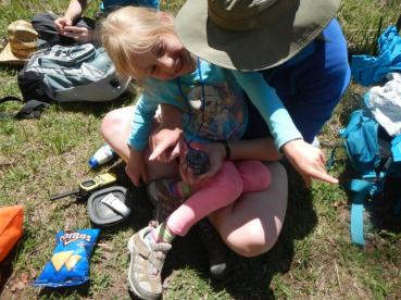 Campers learn to find North both with and without a compass
