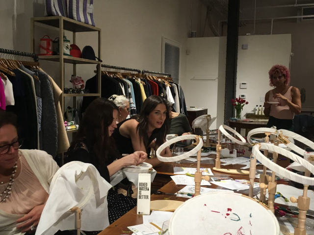 2017 - Stitching event at Hero Shop