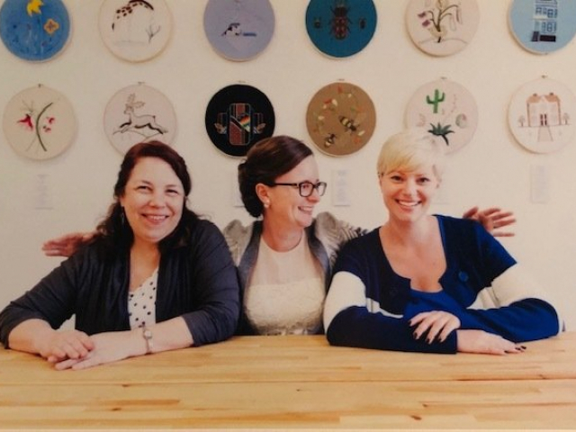 2018 - SNAD staff - Beth, Lucy and Annalee