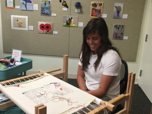 2016 - Opening event: group stitching project (Chloe Baiter)