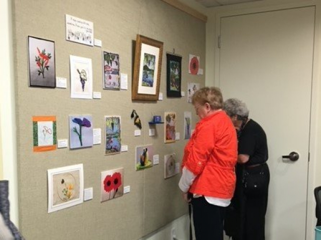2016 - Opening Event: Tiffany Window Stitch-at-Home Challenge exhibition