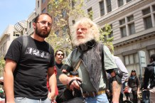 Copwatchers observe a rally and protest at Oakland's city center on May 1, 2012. (Alex Emslie)