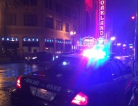 An Oakland police cruiser near 19th and Telegraph. (Alex Emslie)