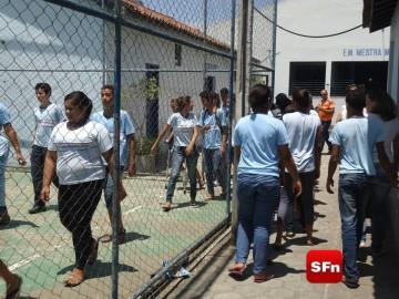 Defesa Civil realiza simulado em escola foto Vinnicius Cremonez 4