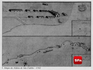 mapa da vila de são fidelis