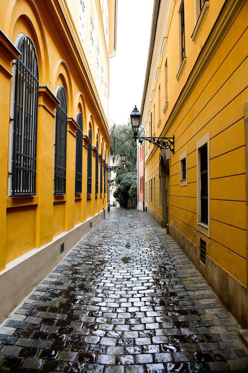 yellow european alley