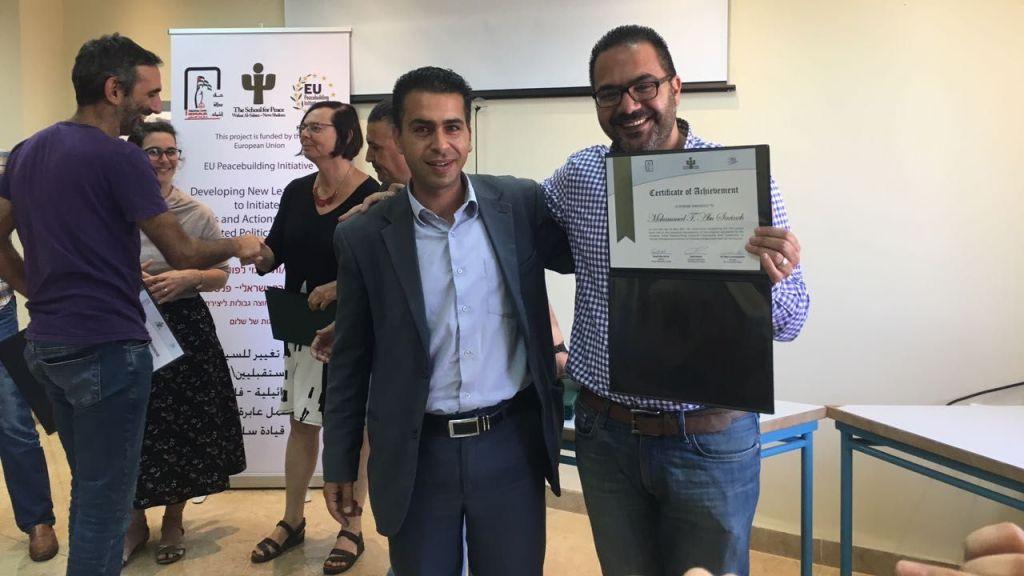 politicians course participants with diplomas
