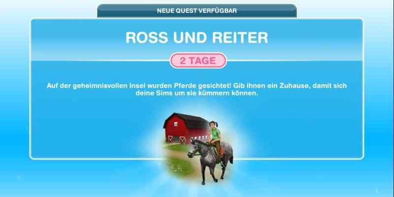 Questankündigung Ross und Reiter