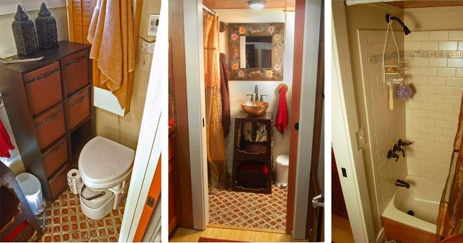 tiny house with large bathroom