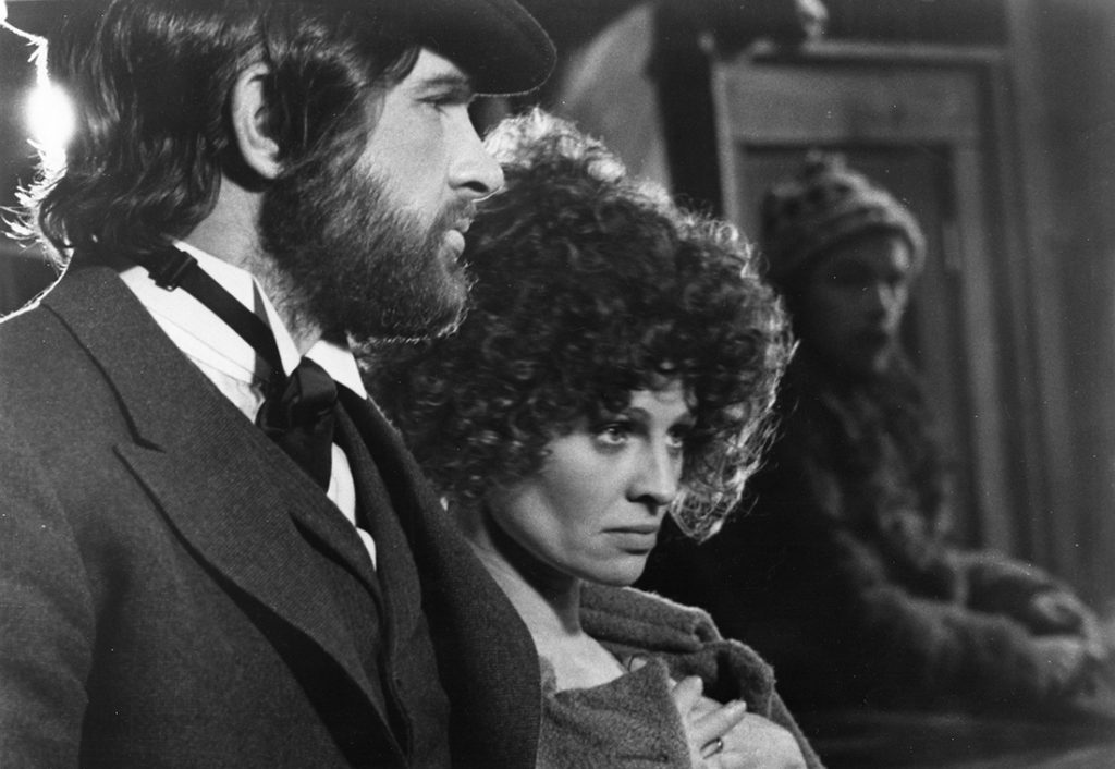 "Still shot of Warren Beatty (""John McCabe"") and Julie Christie (""Constance Miller"") starring in McCabe & Mrs. Miller, 1971, featured in the 2018 Il Cinema Ritrovato Film Festival"