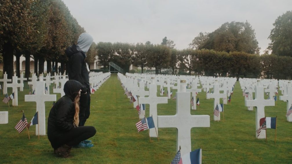 MeuseArgonneStudentsCemetary - Remembrance during Study Abroad