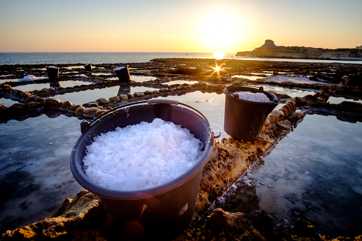 A beautiful morning at the Gozo Salt Pans