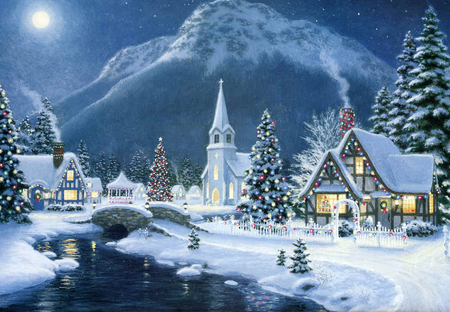 Christmas Scene Backgrounds Sf Wallpaper