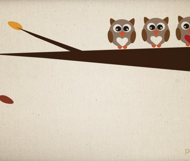 Cute Girly Owl Wallpaper