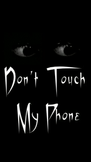 2000+ Wallpaper Black Dont Touch My Phone  Terbaru