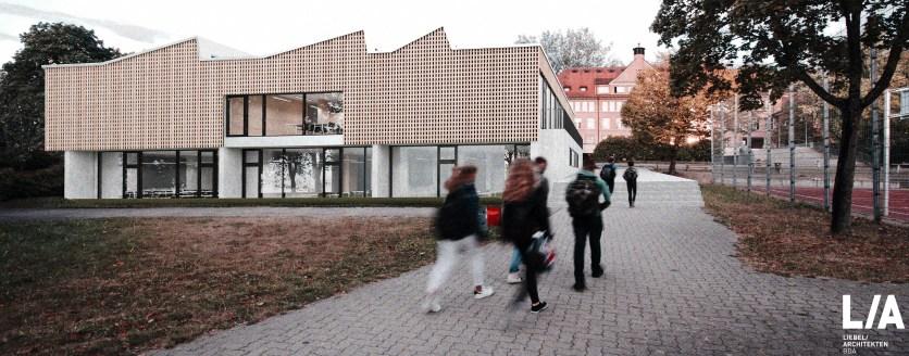 Der neue Fachbau am SG mit schönen neuen Räumen für die Naturwissenschaften (Stand: Nov. 2016)
