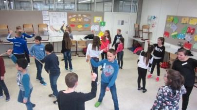 Februar 2017   Macht Spaß und ist gut für die Klassengemeinschaft: Theatertage für die 5. Klassen am SG