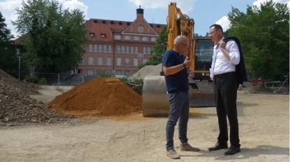 21.06.2017: Architekt und Oberbürgermeister im Gespräach