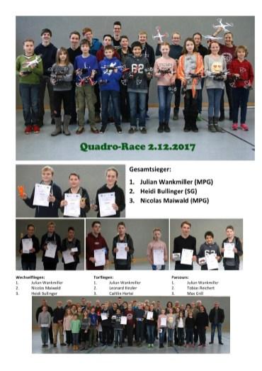 """02.12.2017: """"Quadro Race"""" — eine MINT-Partnerschaft des SG mit dem Modellflugverein"""
