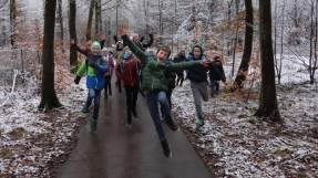 180201: die Klasse 5a am Wintersporttag
