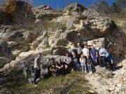 17.10.2017: Exkursion zum Braunenberg, Fossiliensuche im Steinbruch