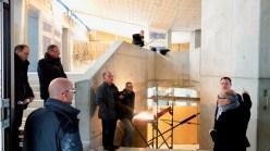 14.12.2018: Architekt Liebel erläutert das Konzept des neuen Fachgebäudes