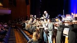 15.03.2019: Die ganze SG Big Band Familie eröffnet das Jubiläum in der Stadthalle