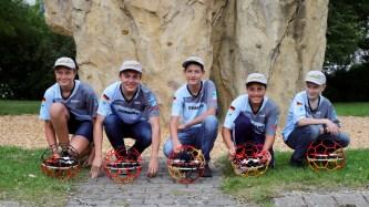 04.09.2019: Das Droneball Team des Schubart-Gymnasiums