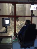11.10.2019: Im Cockpit des Müllgreifers