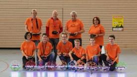 16.2.2020: Mitglieder der Flieger-AGs vom MPG Heidenheim und von unserer Flieger-AG (Jenny Pham, Niklas Ulmer und Johannes Kürz) stellen mit den Mitgliedern der MFG Ostalb den Drohnensport vor.