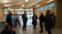 10.11.2020: Im Foyer des neuen Fachtrakts