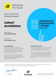 ACD Awards 2020 Certificate - Zero-Energy-School By LiebelArchitekten BDA