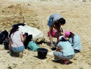 Hobby-Geologinnen der 7a