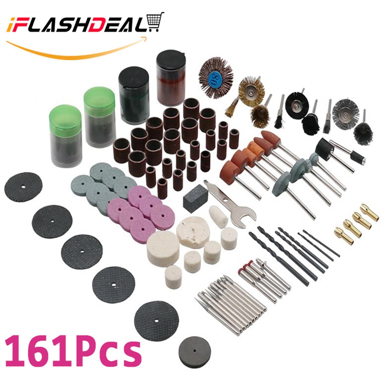 iFlashDeal 161 Pcs Alat Putar Set Aksesoris-Cocok 1/8