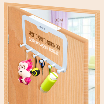 Door After Hangers Seamless Wall Hook Free Nail Glue Strong Adhesive Load Racks Clothes