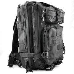 30L Outdoor Military Rucksacks Backpack Camping Hiking Trekking Bag - Black