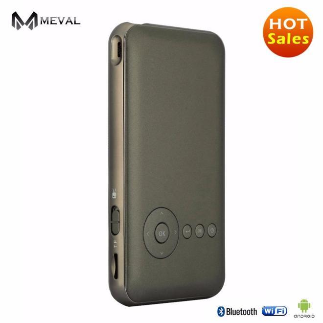 Meval S6 + Mini Projector untuk Rumah Harga Murah Rumah Cinema 1080 P Penuh HD 1080 P 1 g/16G Rom-Internasional