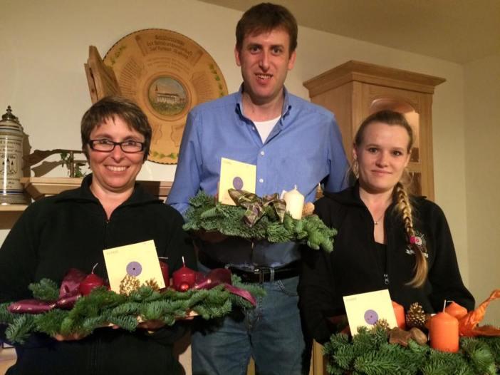 Gewinner bei alljährlichen Adventskranzschießen