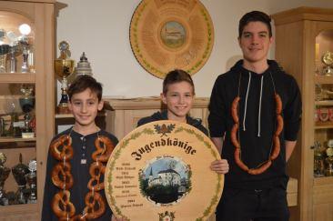 Wie die Orgelpfeiffen! Gratulation an Lorenz, Nick und Patrick