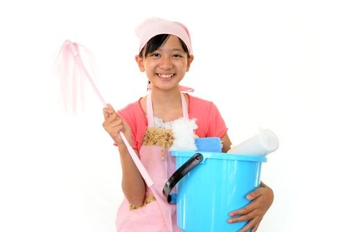 trick your child to do housework
