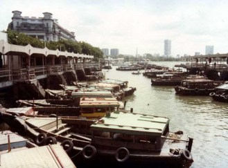 The Old Fullerton Hotel from Clifford Pier - 1982
